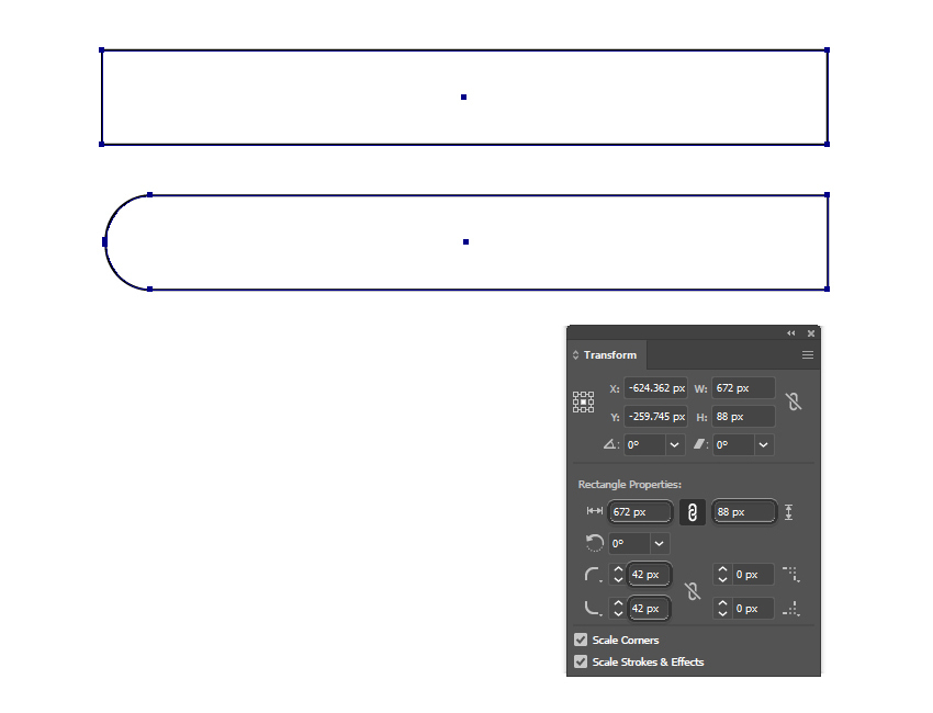 how to create a rounded rectangle