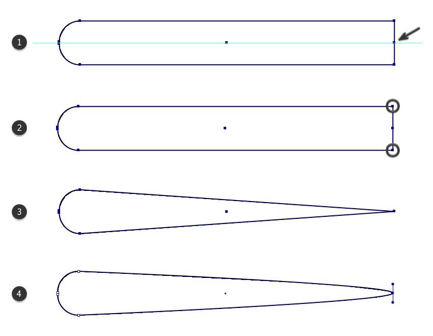 how to create a simple tentacle shape