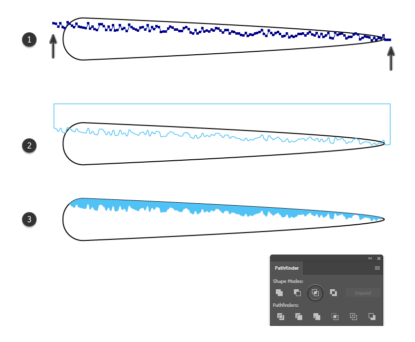 how to create a shading shape on the tentacle brush