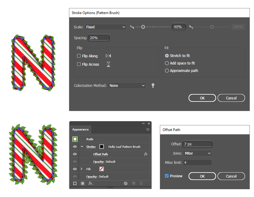 how to apply a leaf pattern brush in Adobe Illustrator