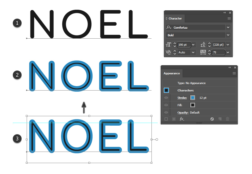 how to write and adjust the text in Illustrator
