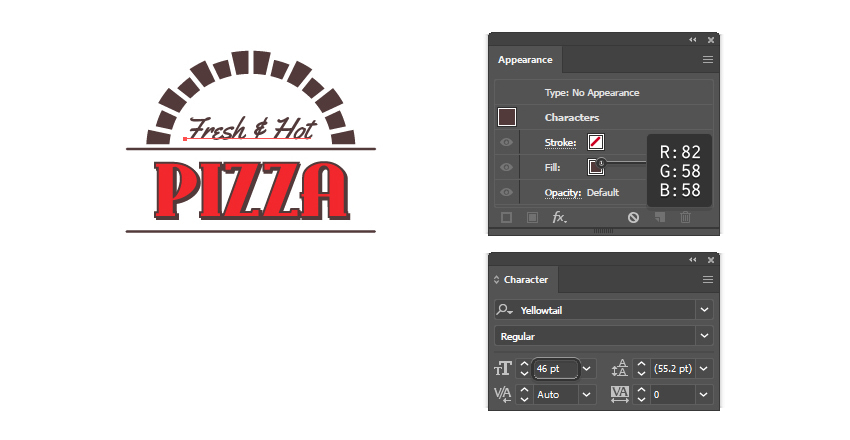 How to add more text on the pizza box design