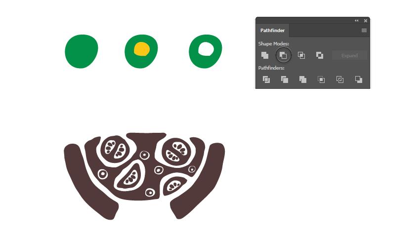 How to arrange olives on the pizza logo