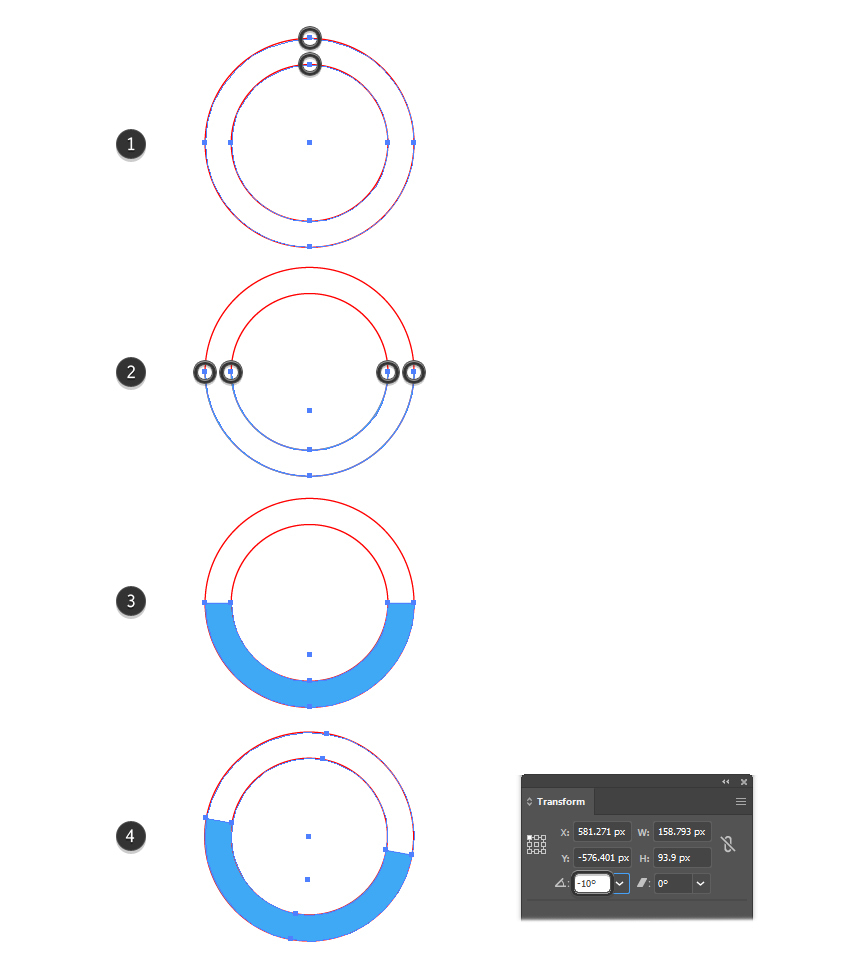 How to create the 24 hours delivery icon in Illustrator