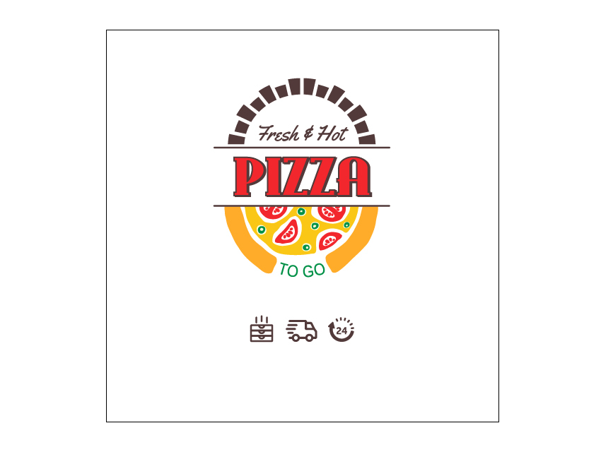 How to add icons in the custom pizza box packaging design