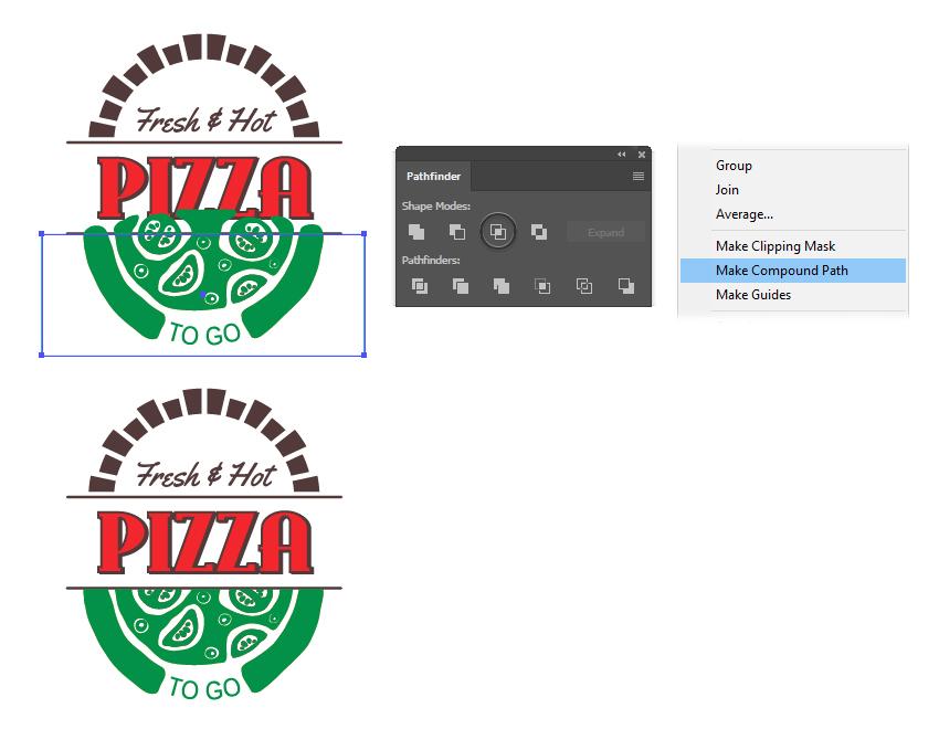 How to create a pizza mask shape