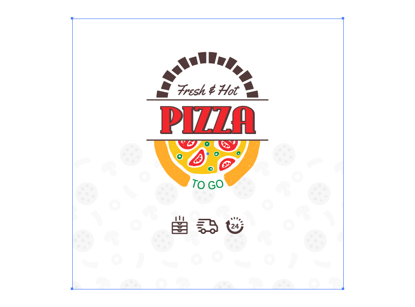 How to mask the pizza pattern on the custom box packaging