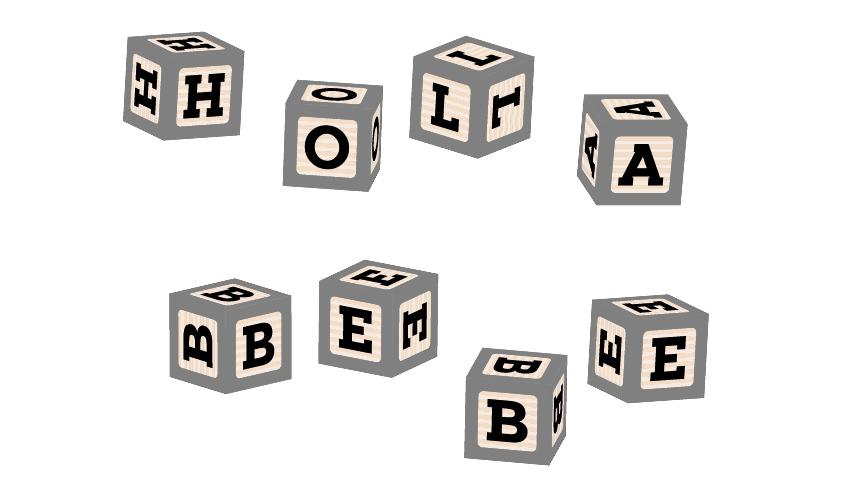 как применить все символы шрифта блока на детских блоках