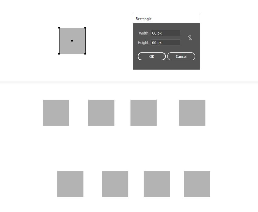 как создать простой квадрат в Illustrator
