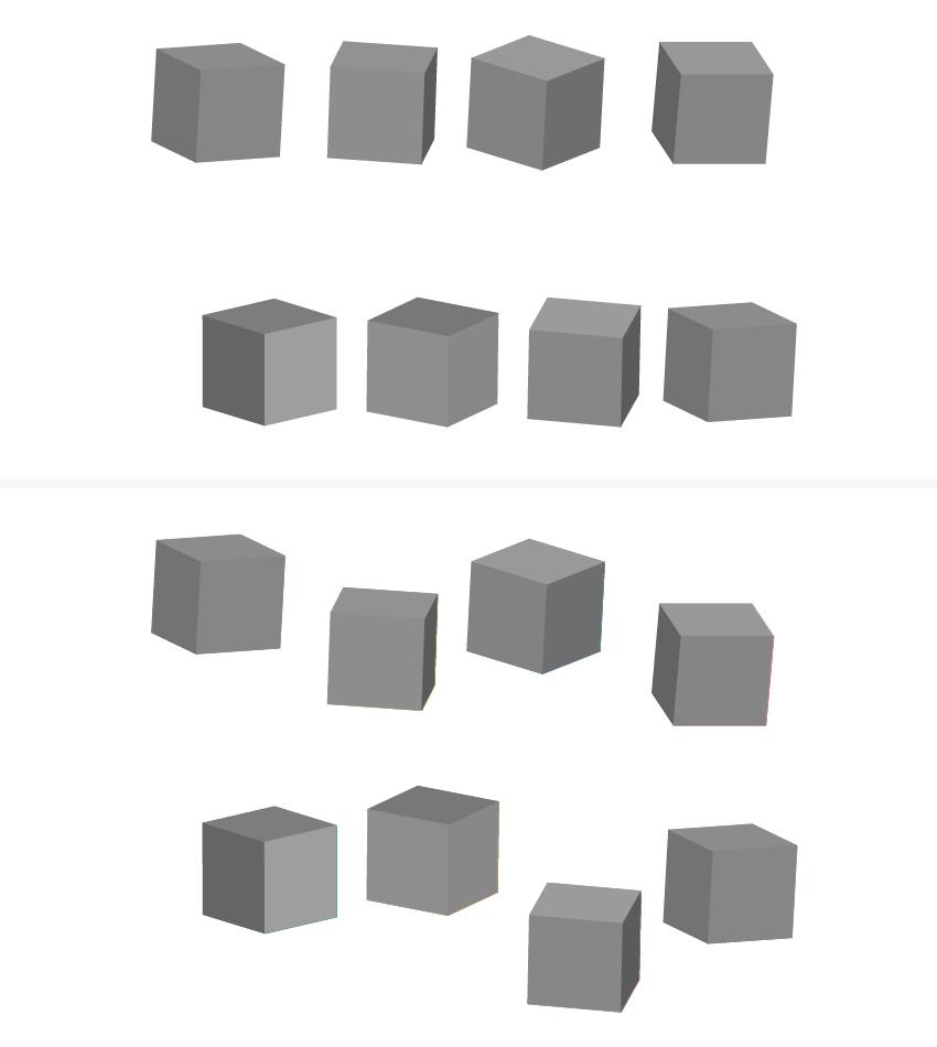 как расставить 3D блоки на артборде