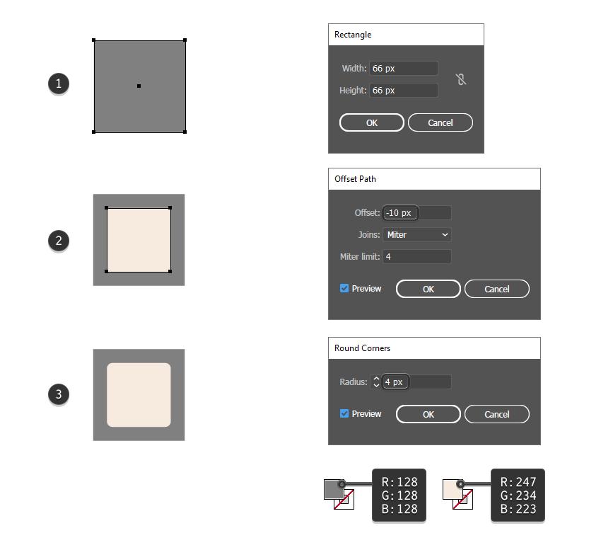 как создать грань 3D-блока в Illustrator