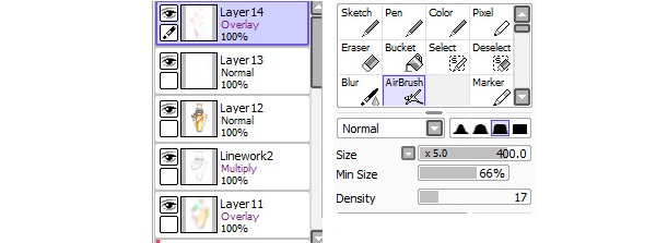 Adding color variations using Overlay layer