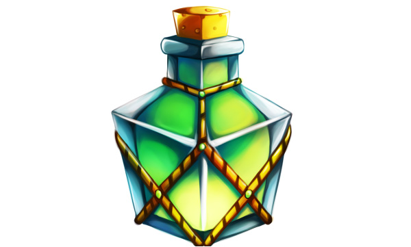 Finished rectangle shaped potion