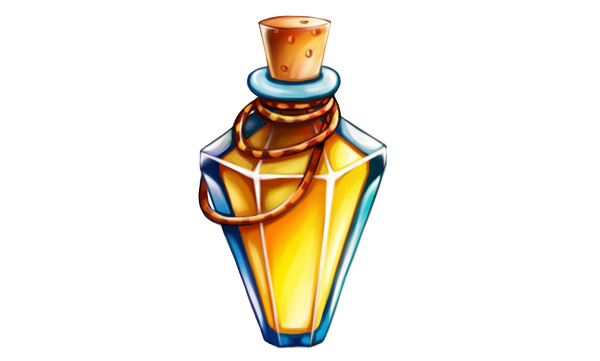 Finished triangle potion