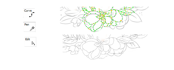 Drawing vector contours for flowers
