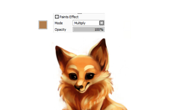 Adding shadows using multiply layer