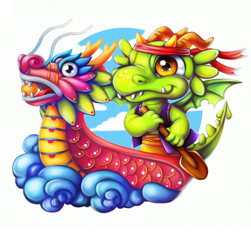 How to Create a Vibrant Dragon Boat Illustration in Paint Tool SAI