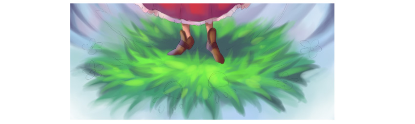 Working on grass