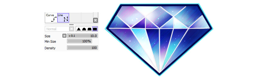 Create borders for the gem