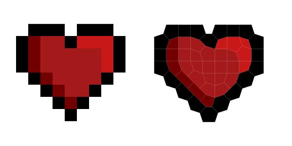 pixel art trace voronoi