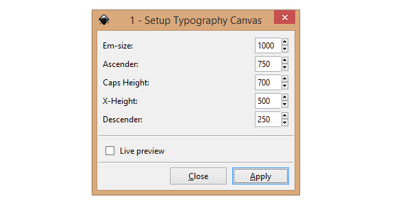 typography canvas menu