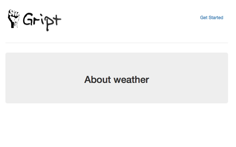 The Landing Page for Weather