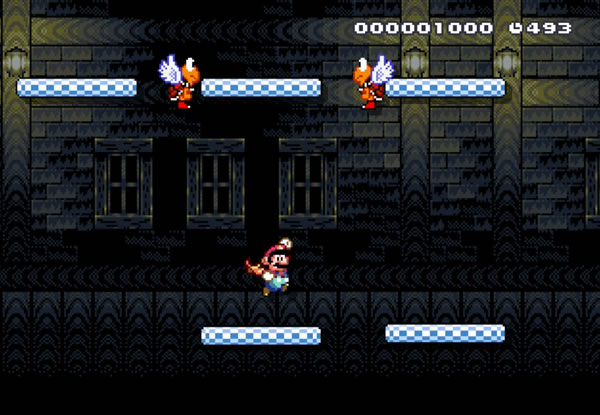 A shot of momentum in Super Mario World