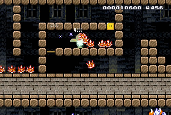 The challenge in the next section of the level