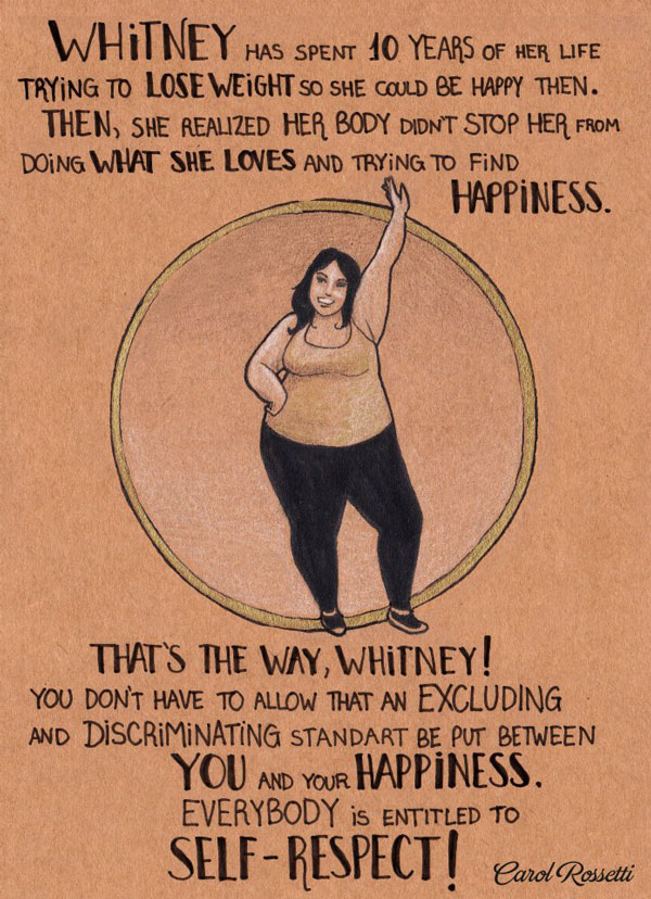 A piece based on Rossettis friend Whitney covering the topic of body acceptance