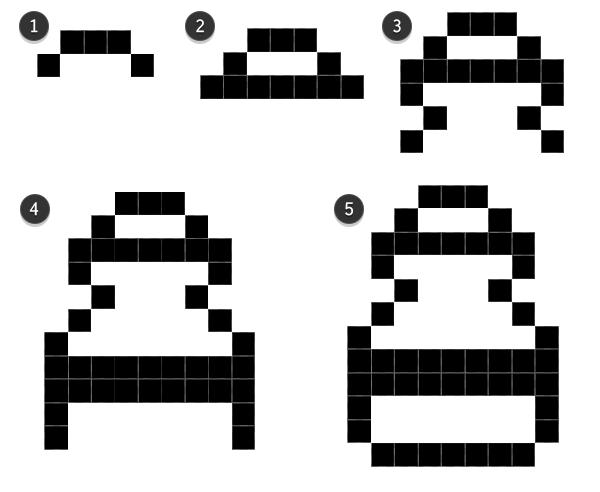 Bottle lineart pixel icon