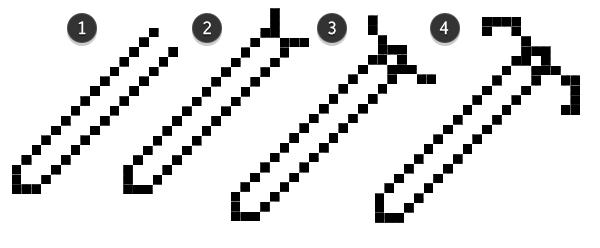 First half of sword pixel lineart
