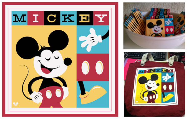 Mickey Mouse design and related merchandise