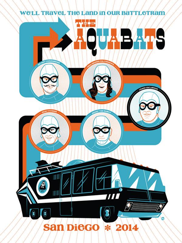 Aquabats poster design