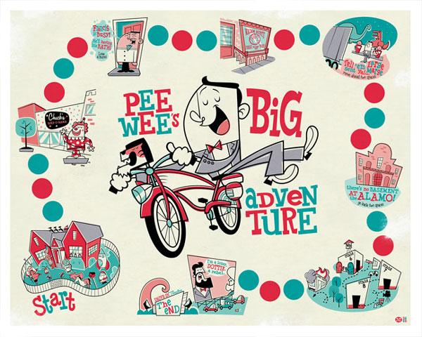 Pee Wee Herman Illustration