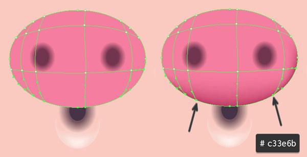 Gradient Mesh Nose