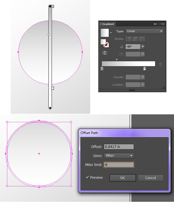 Using linear gradients to create dimension