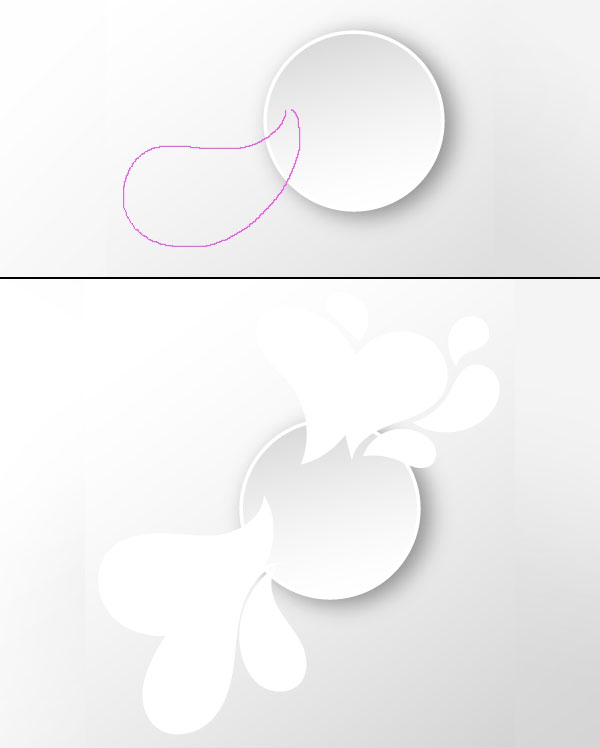 Draw paisley shapes with the pencil tool