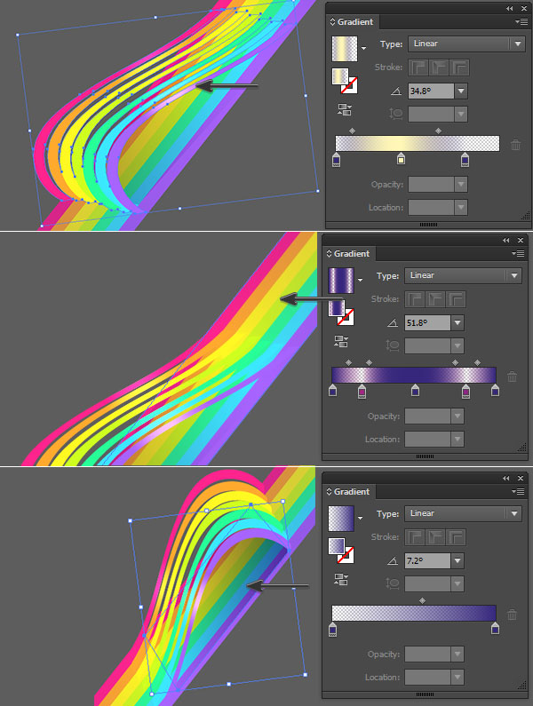 applying gradient overlays to add dimension