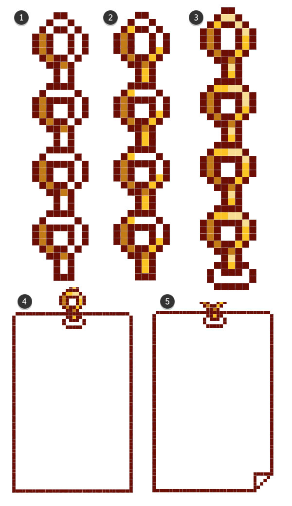 Rendering the chain and drawing the paper menu