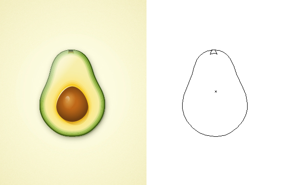 Avocado One Shape Design