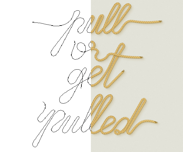 Rope Text Design