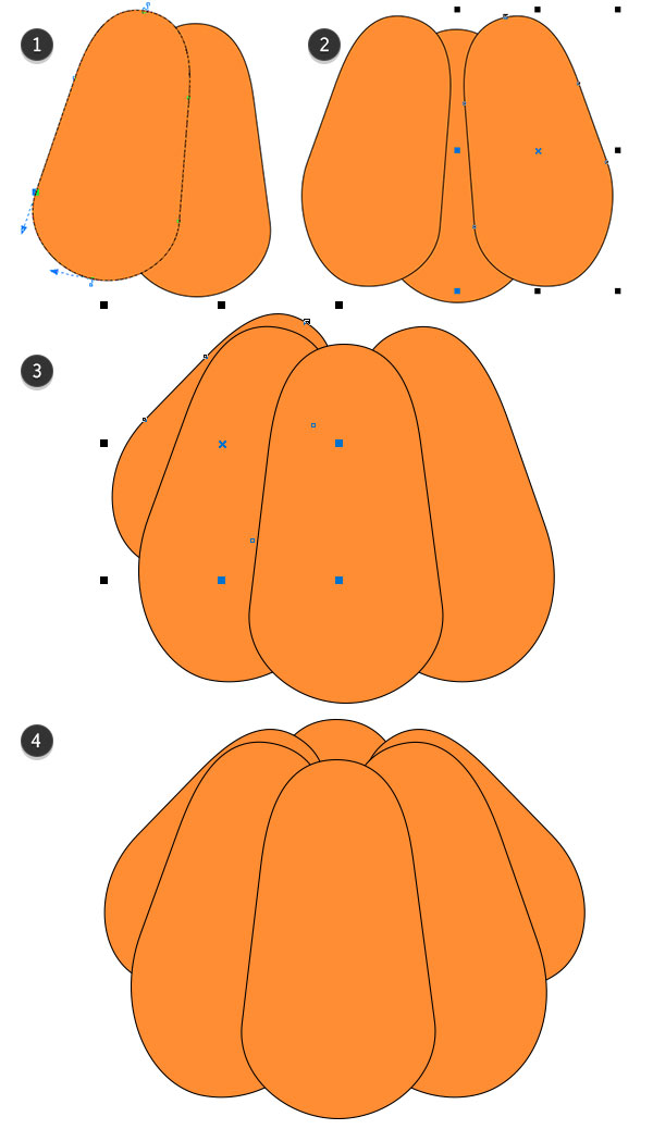Copy and Paste Objects to Create  Pumpkin