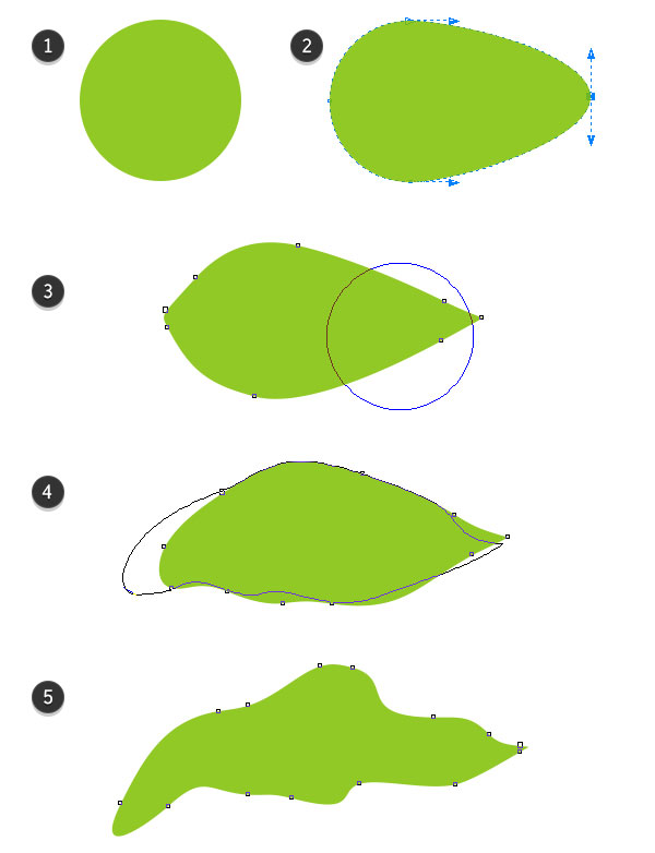 Create a Leaf from an Ellipse and the Smear Tool