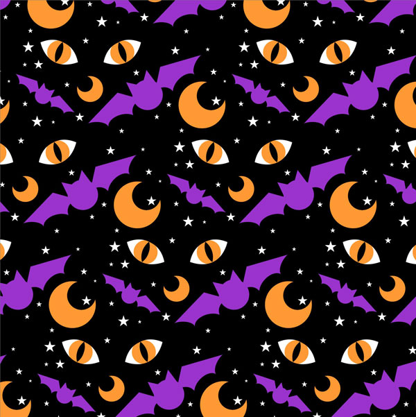 Finished CorelDRAW Halloween pattern
