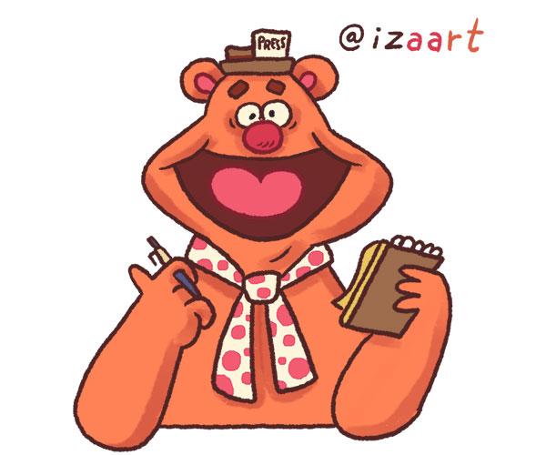 Fozzie Bear drawing