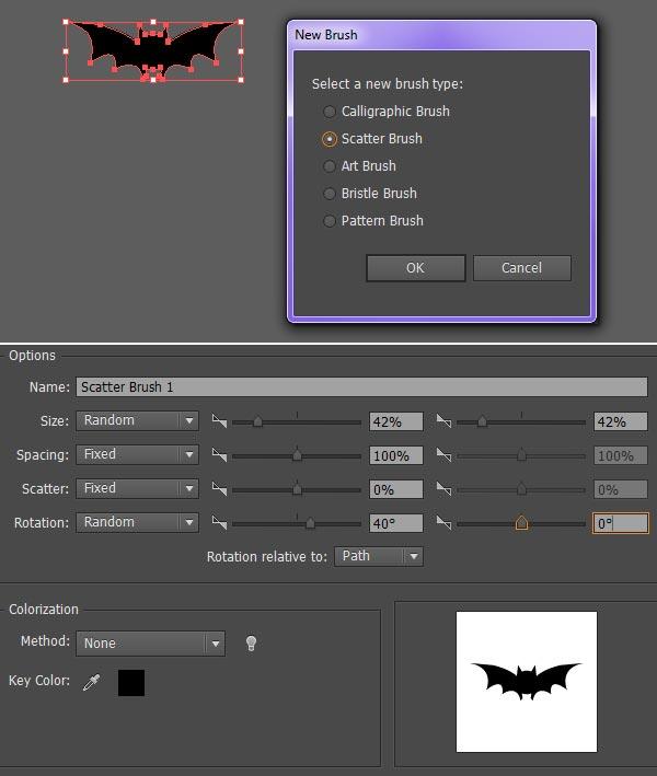 Create a custom scatter brush