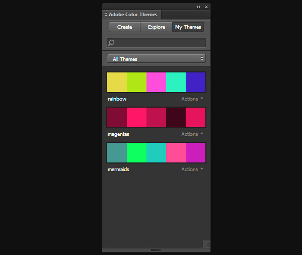 Manage your Adobe Color themes directly from Adobe Applications