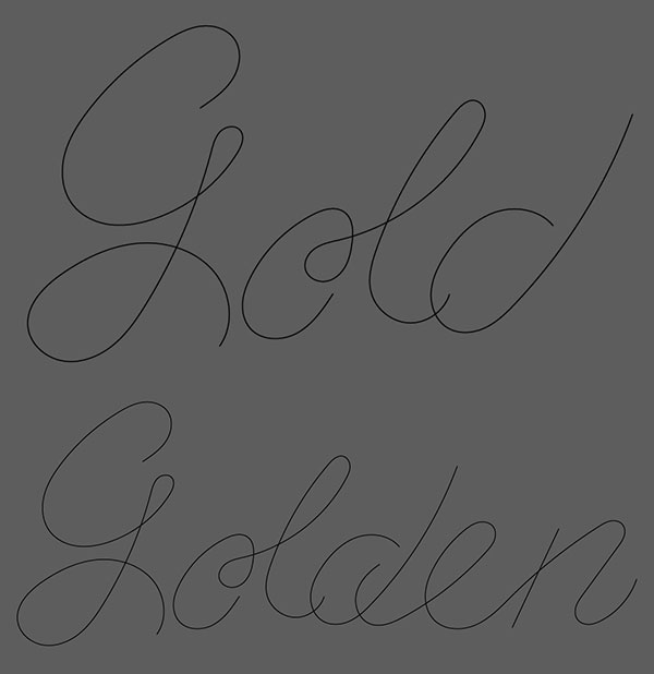 Writing out gold and golden