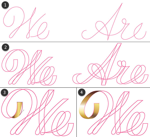 Additional methods for rendering lettering
