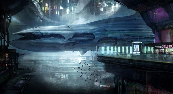 Harbor city concept